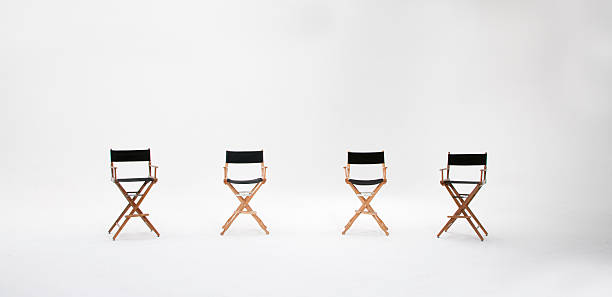 director's chairs - director stock photos and pictures