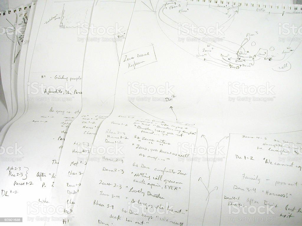 Director's Diagrams royalty-free stock photo