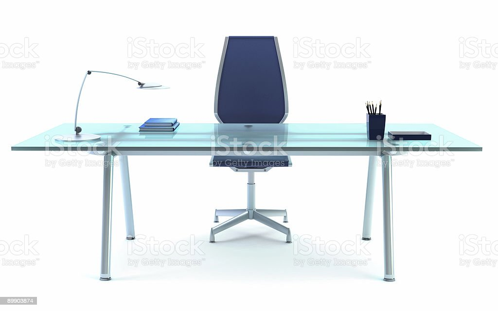 director's office 3d rendering royalty free stockfoto