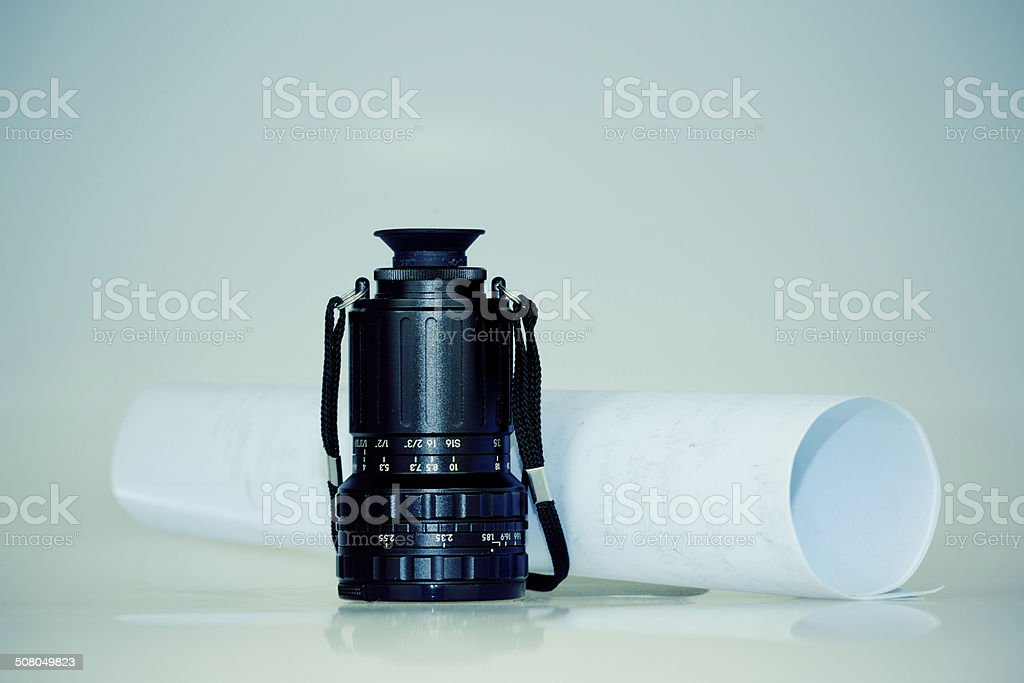 Director's viewfinder stock photo