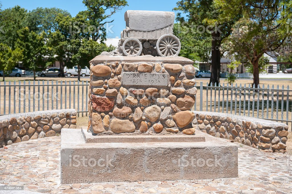 Dirkie Uys monument in Somerset West stock photo