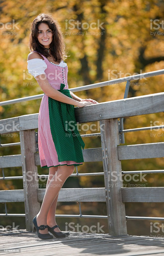 Dirndl Beauty (XXXL) stock photo
