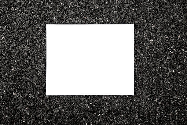 Dirt and the white paper stock photo