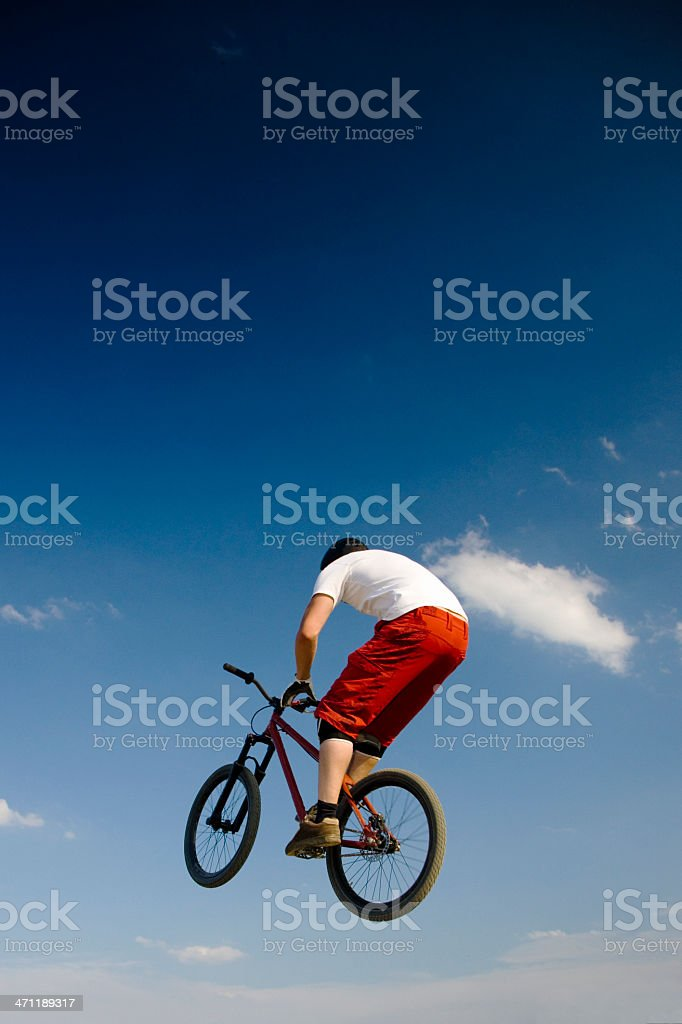 Dirt Bike Jumping royalty-free stock photo