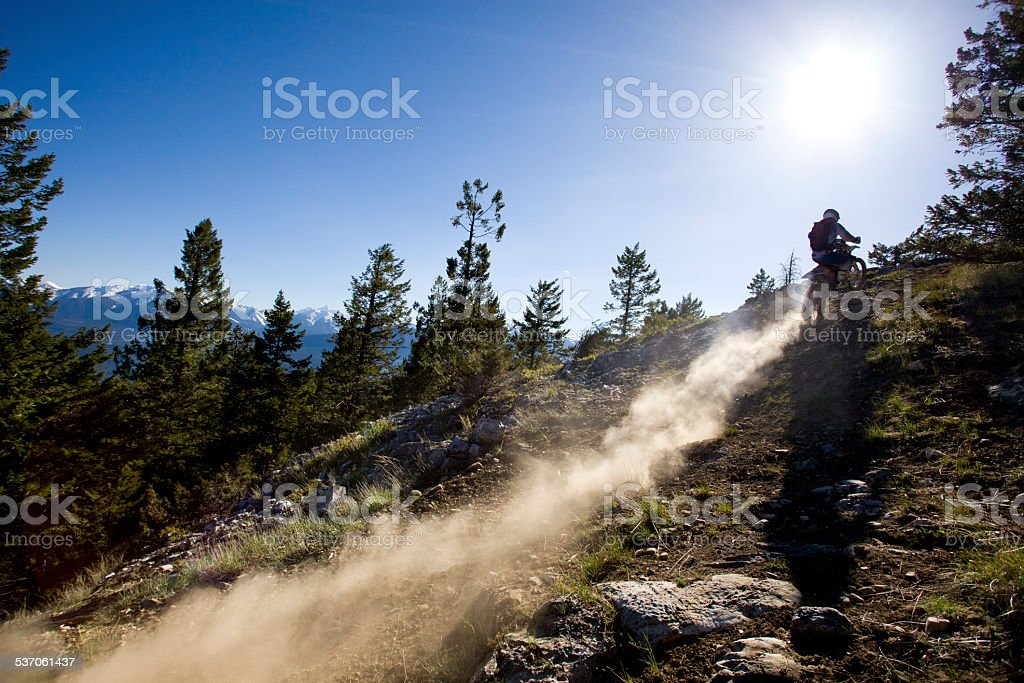 Dirt Bike Rider stock photo