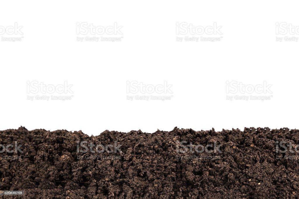Dirt Border isolated on white background stock photo