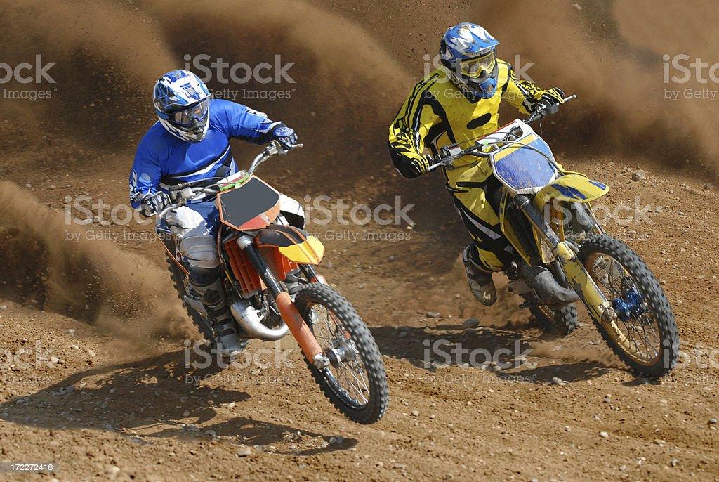 Dirt Duel stock photo