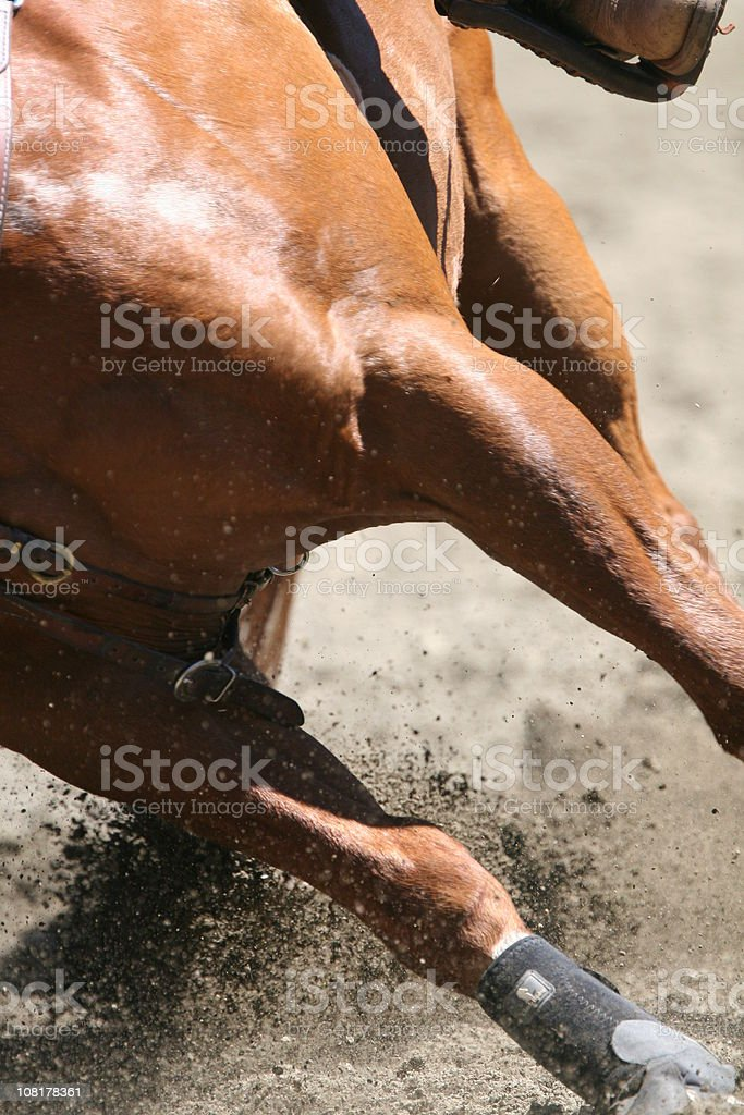 Dirt Flying stock photo