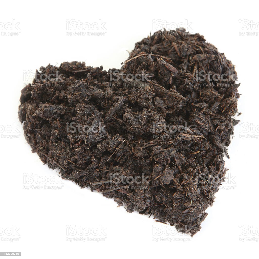 Dirt in the shape of a heart royalty-free stock photo