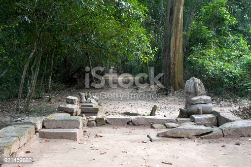 478956028 istock photo Dirt path with lion guardians at the east entrance to the  12th century Preah Khan temple complex 921459662