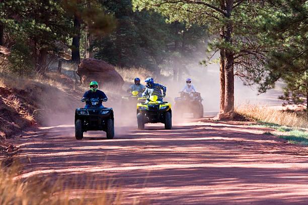 ATV Dirt Riders stock photo