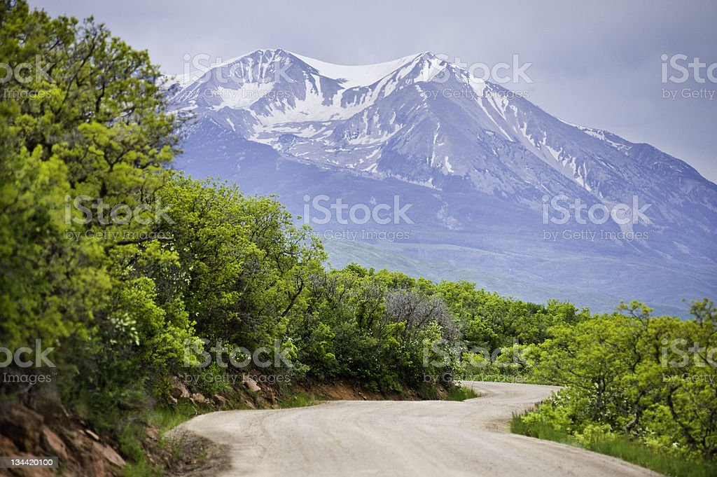 Dirt Road and Stunning Mountain View royalty-free stock photo
