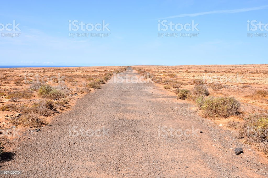 Dirt road desert stock photo