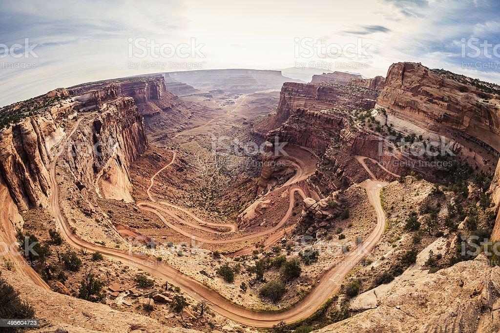 Dirt Road in Grand Canyon National Park, USA Landmark stock photo