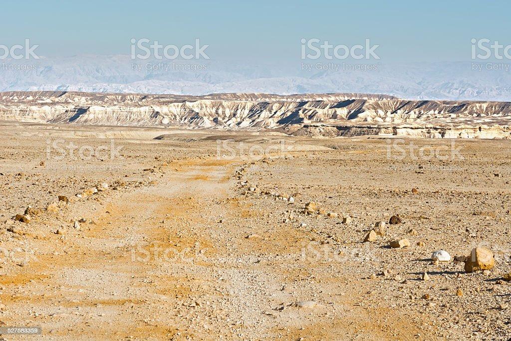 Dirt Road  in Israel stock photo