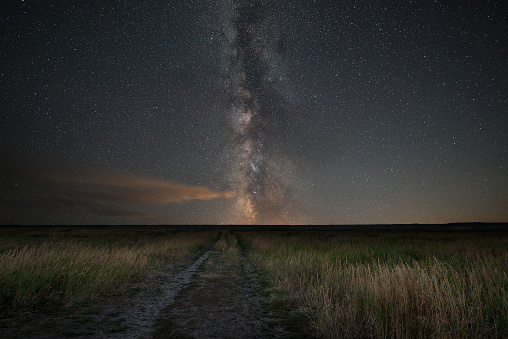 Dirt road leading to the Milky Way Galaxy