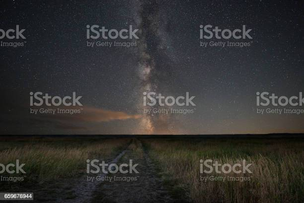 Photo of Dirt road leading to the Milky Way Galaxy