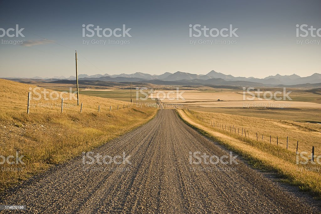 Strada in terra battuta sulla farm - foto stock