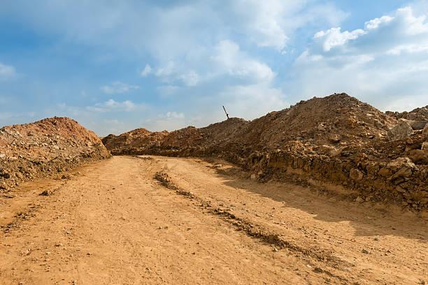 Carretera de tierra - foto de stock