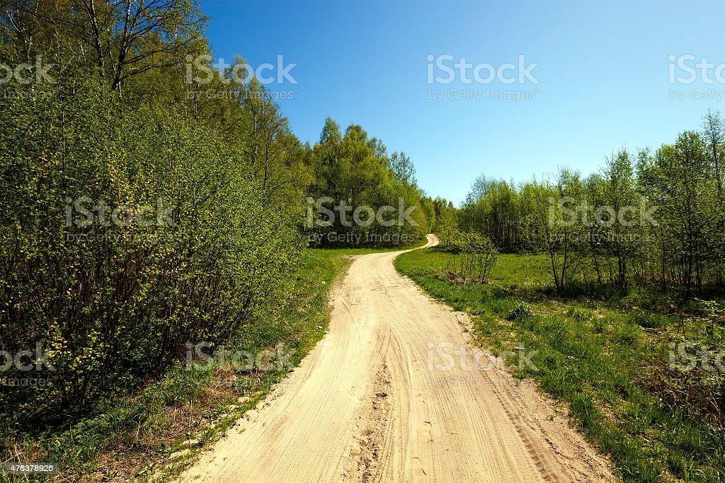 Dirt road stock photo