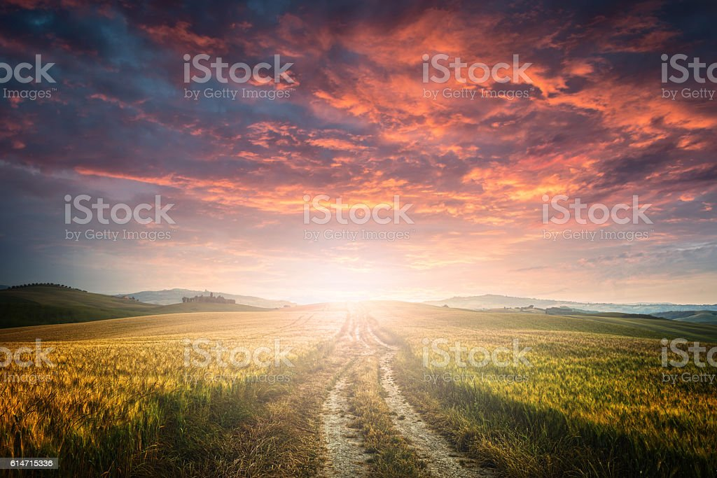 dirt road stock photo