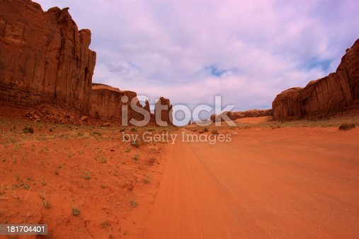 Dirt Road through Monument Valley, Utah, USA