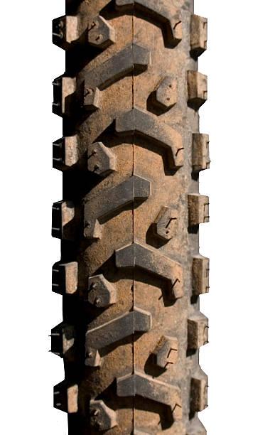 Dirt tire stock photo
