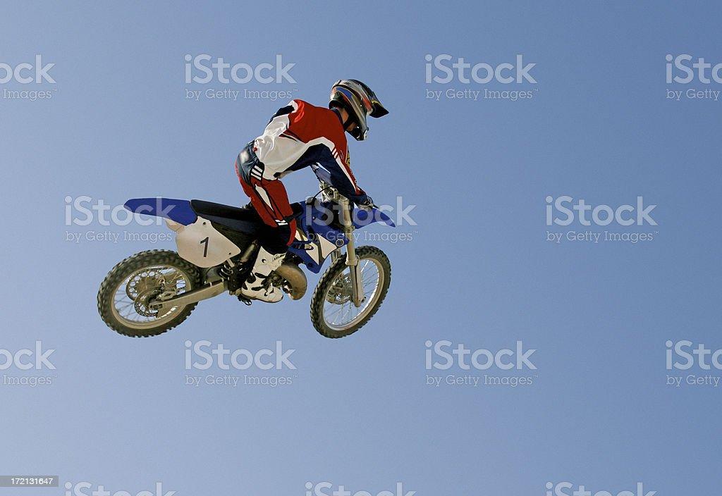 Moto-Rad in der Luft – Foto