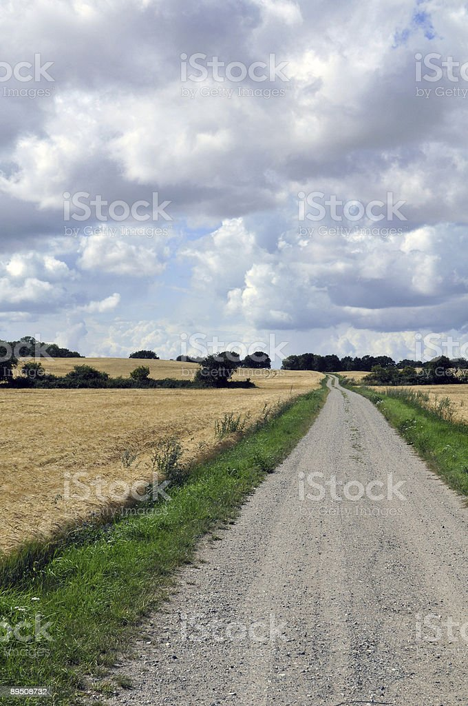 Dirt-Road royalty-free stock photo