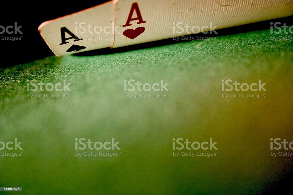 Dirty Aces royalty-free stock photo