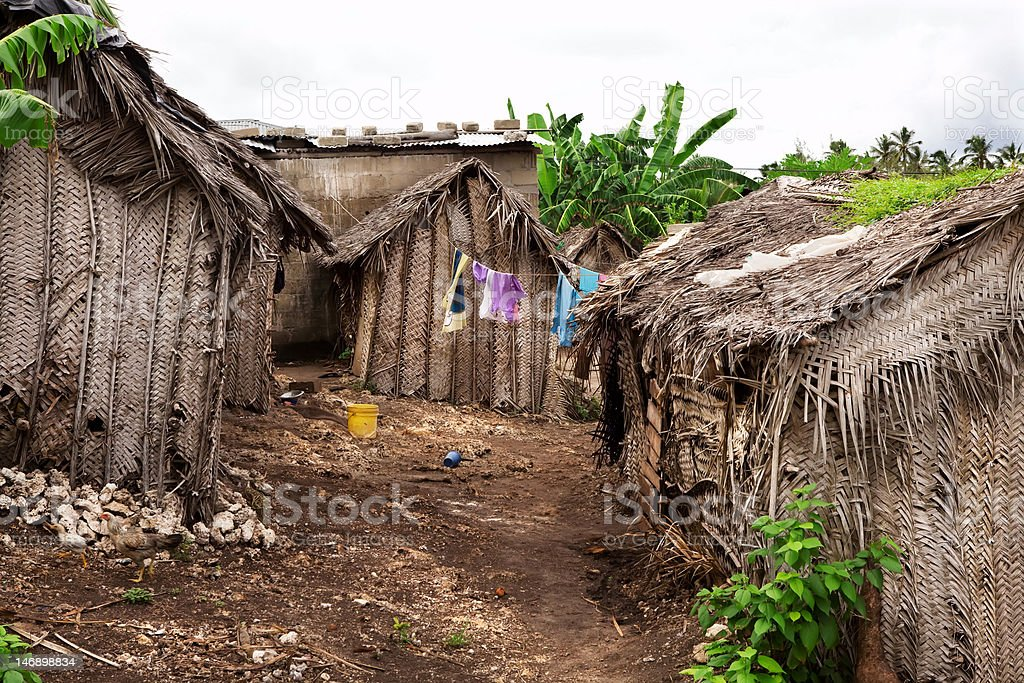 Dirty african village royalty-free stock photo