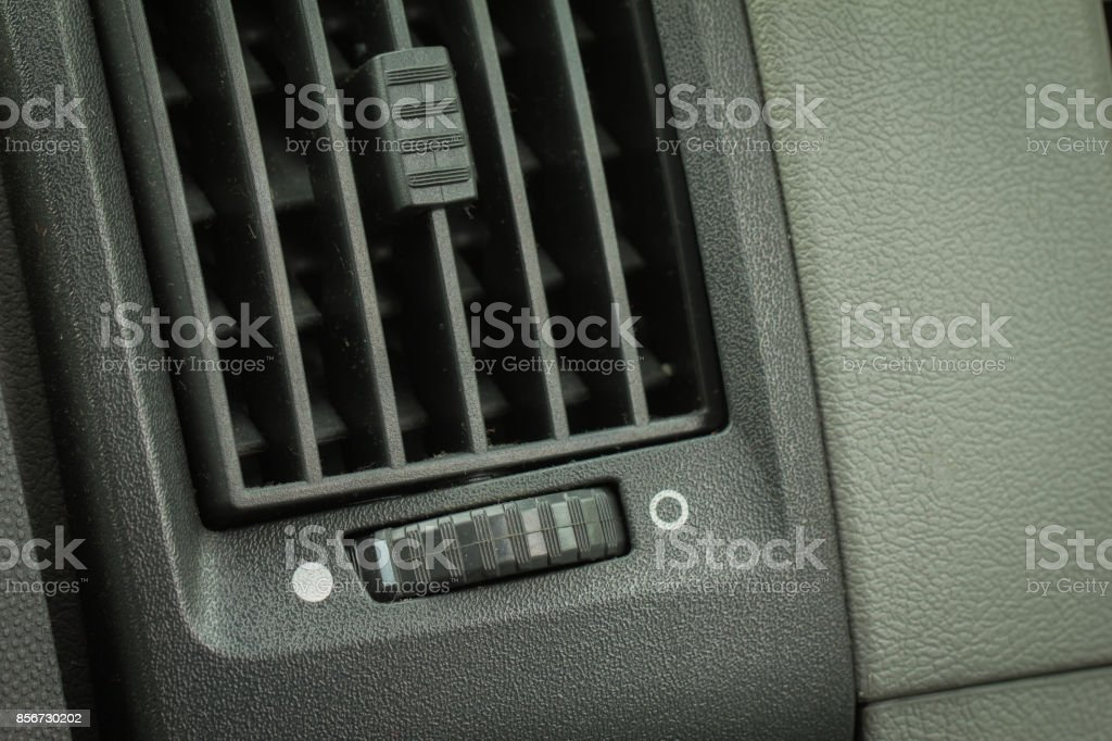 Dirty air conditioning of car. Healt-care concept. stock photo