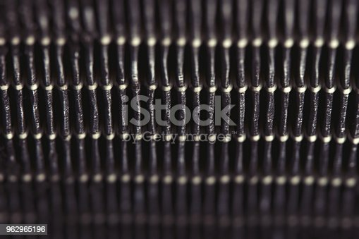 istock Dirty air filter. High efficiency air filter for HVAC system. 962965196