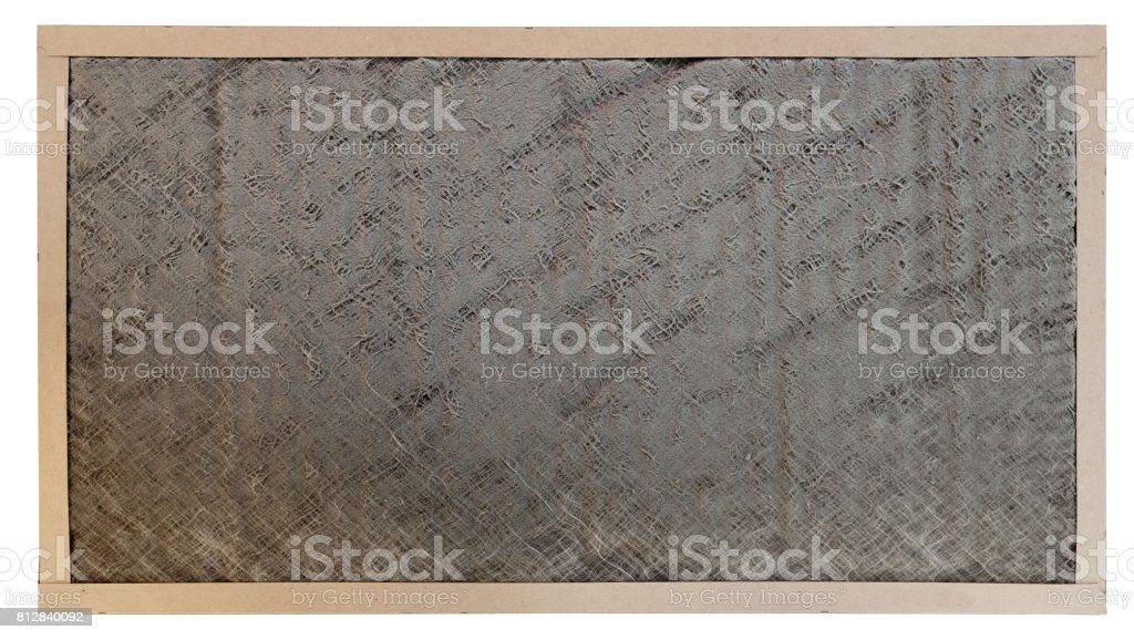 Dirty Air Filter with path stock photo
