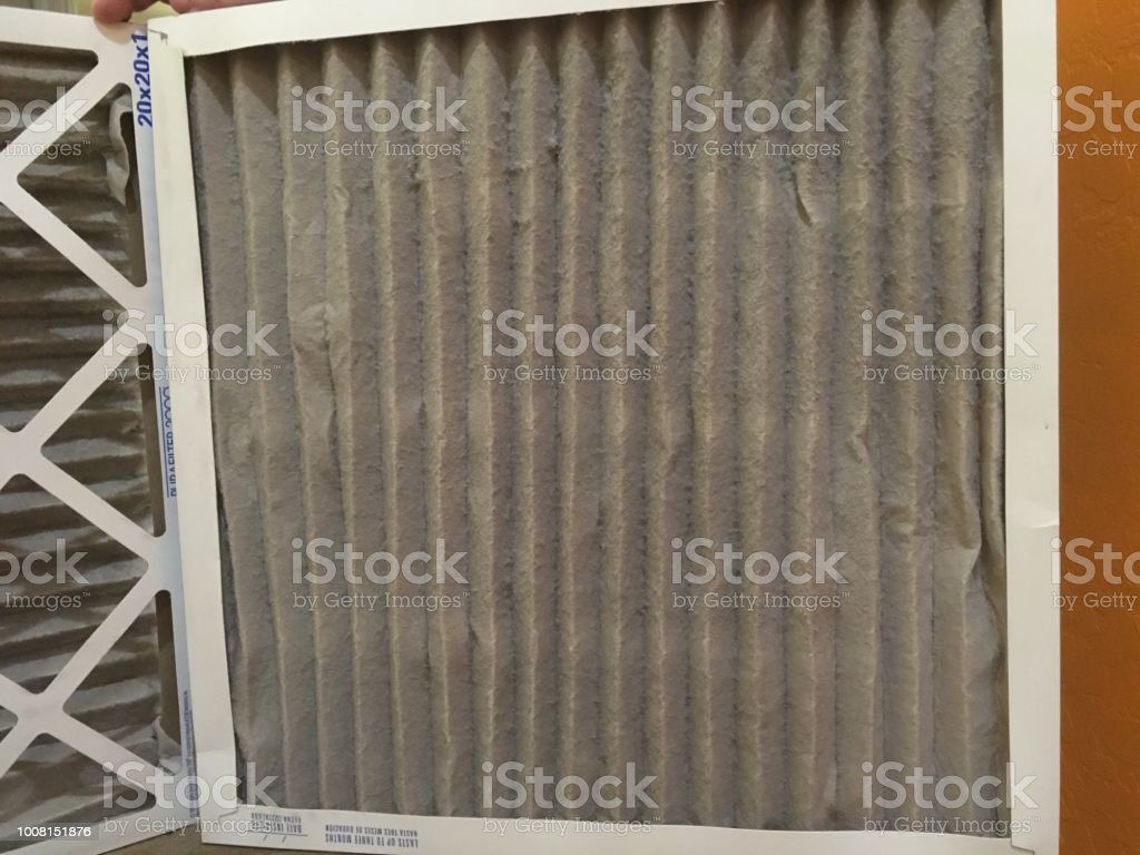 Dirty air filters stock photo