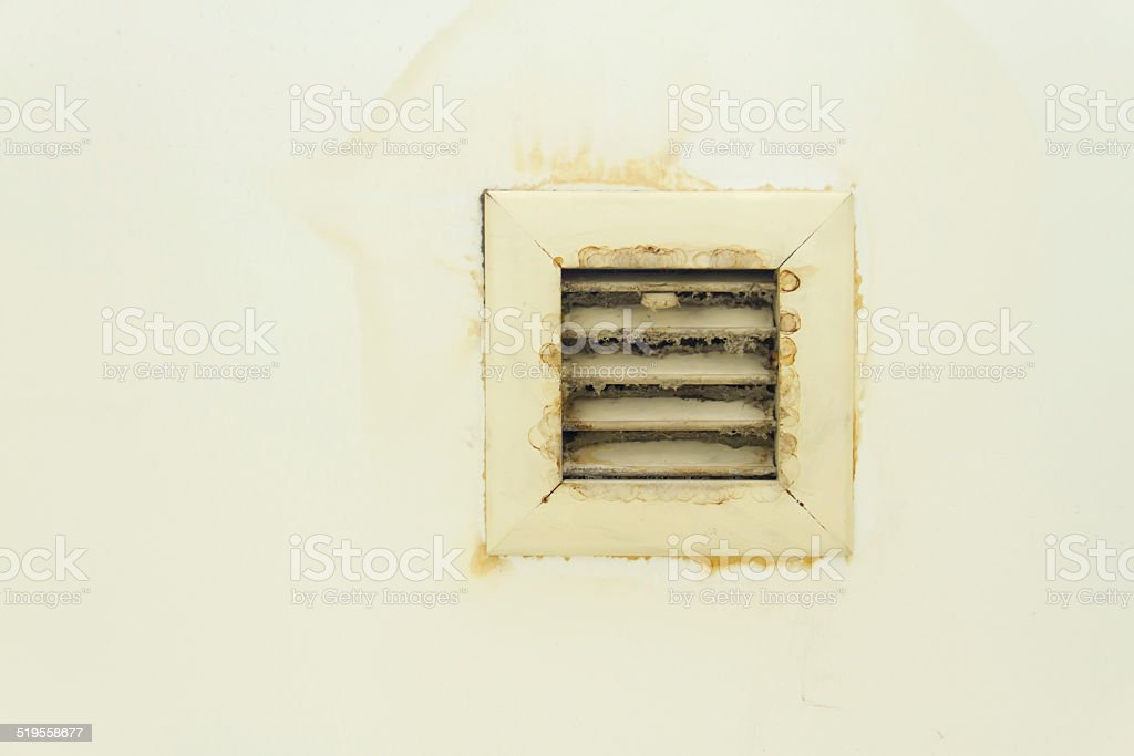 Dirty air vents stock photo