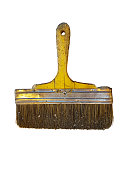 istock dirty and dusty brush on white backgrounds, isolated 641354224