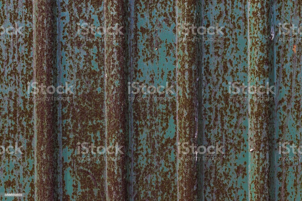 dirty and rusty on green zinc plate wall for background royalty-free stock photo
