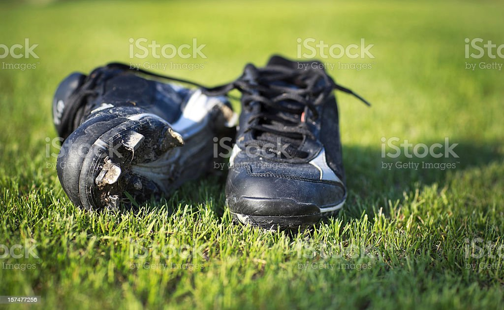 Dirty Baseball Cleats stock photo