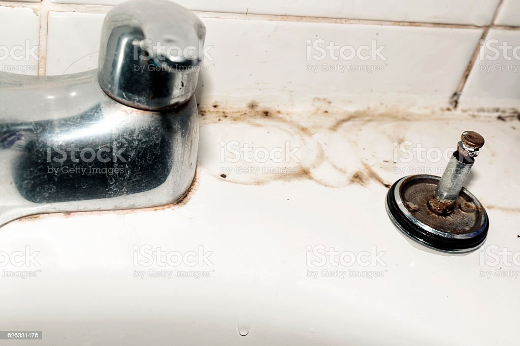 Dirty bathroom stock photo
