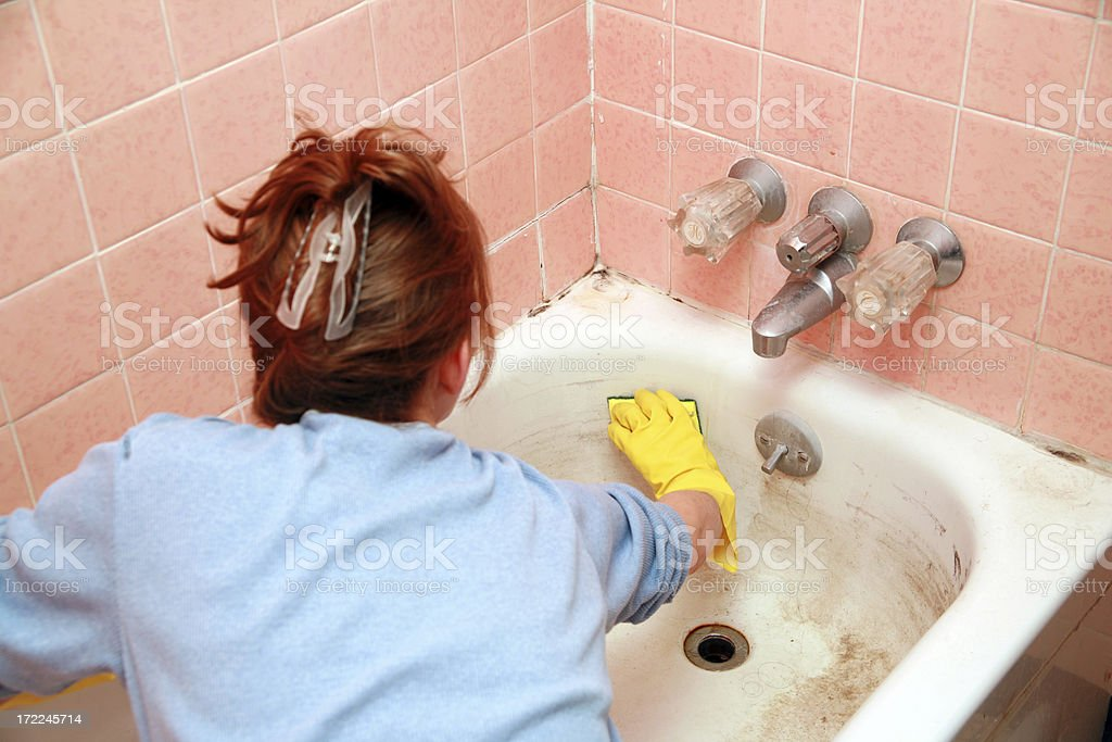 Dirty Bathtub stock photo