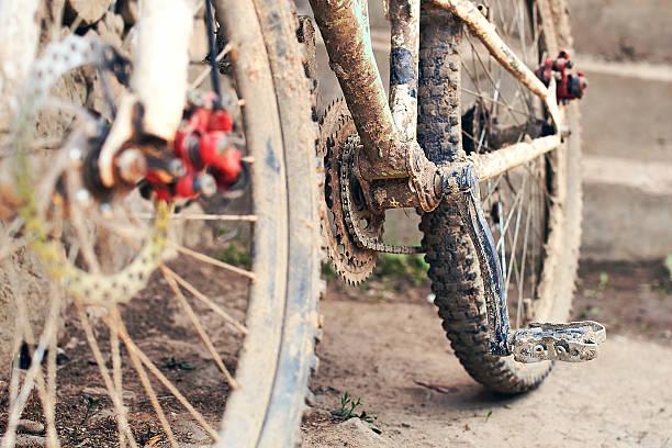 Dirty bike stock photo