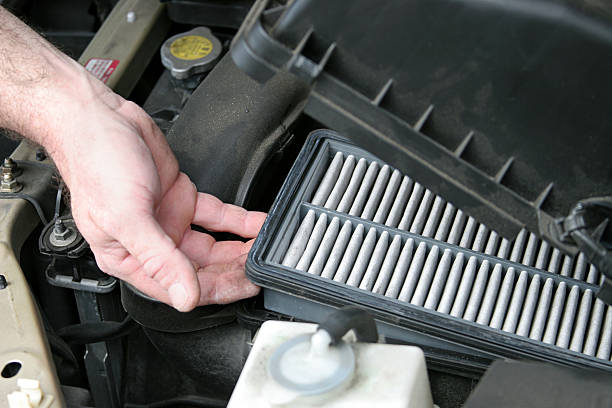 Schmutziges Auto Air Filter – Foto