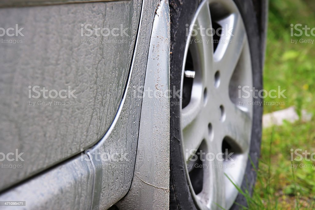 Dirty Car royalty-free stock photo
