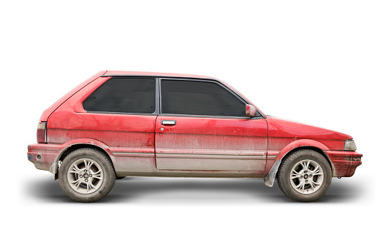 Dirty Car (Clipping Path Included)