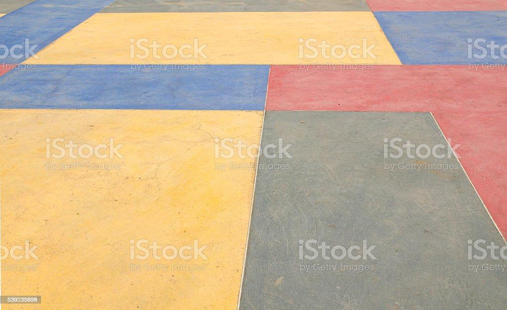 Sucio suelo de cemento con colorido foto de stock libre de derechos