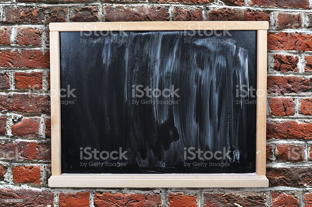 Dirty chalkboard stock photo