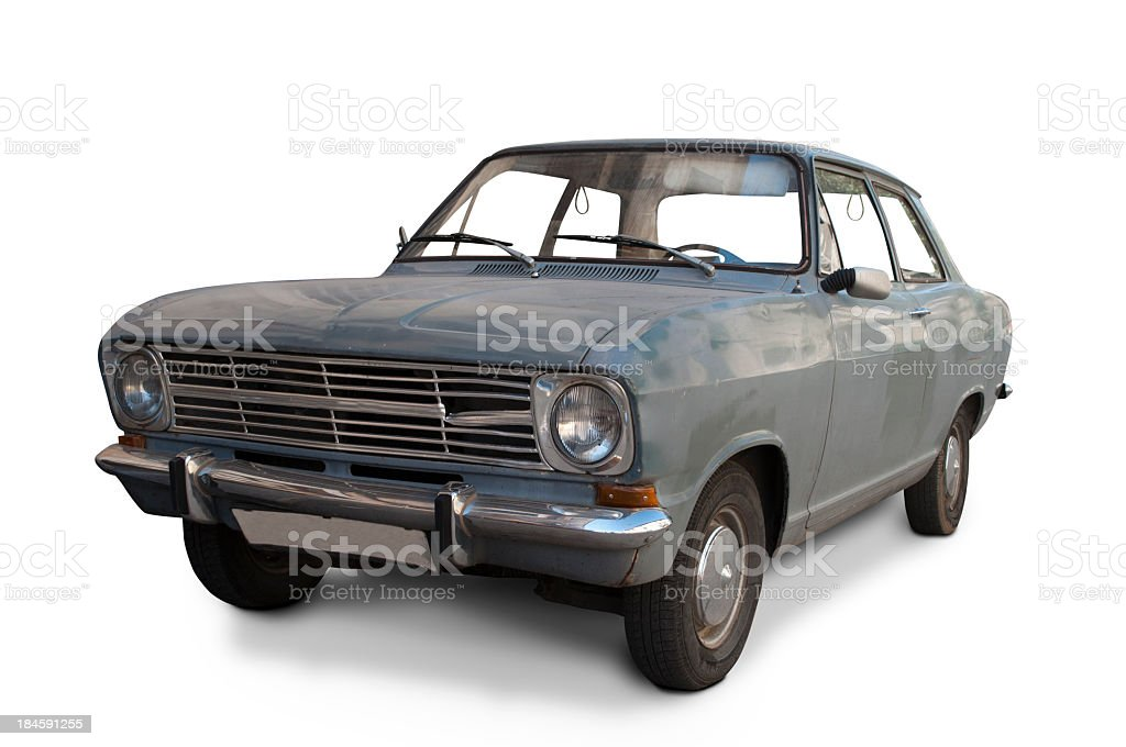 Dirty classic car stock photo