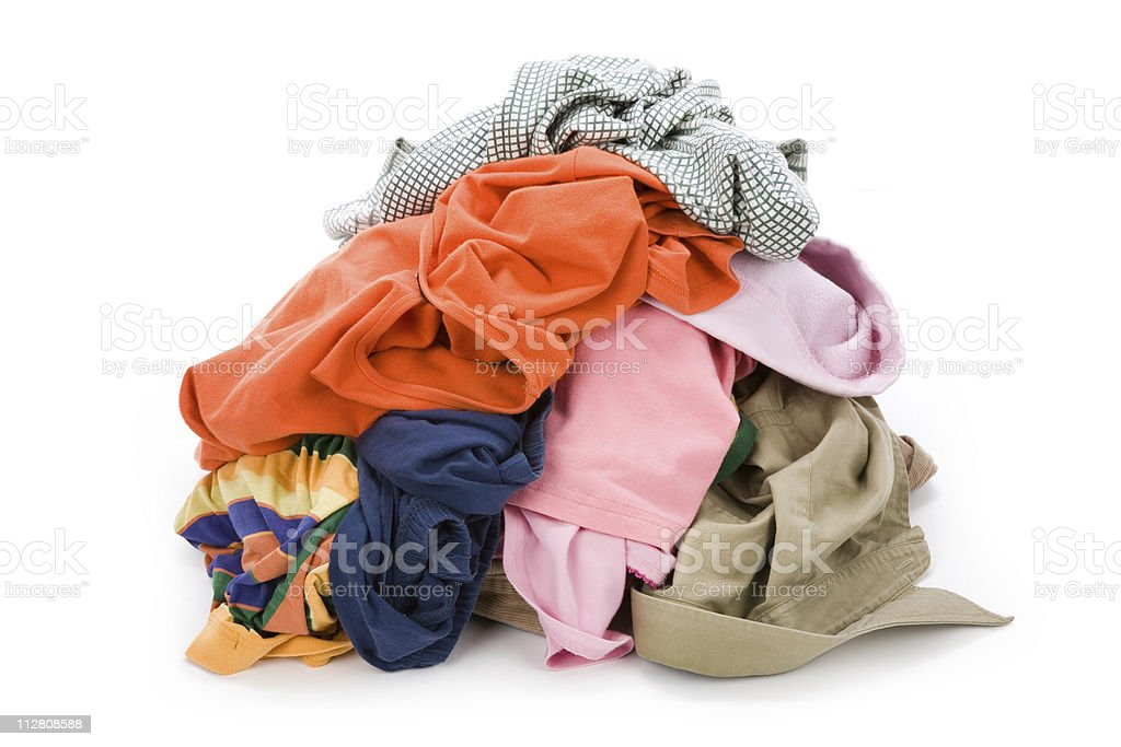 dirty clothing royalty-free stock photo