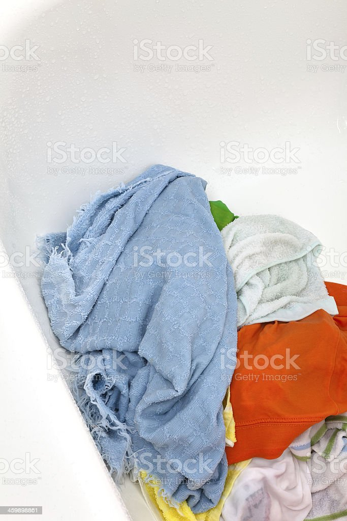 Dirty clothing stock photo